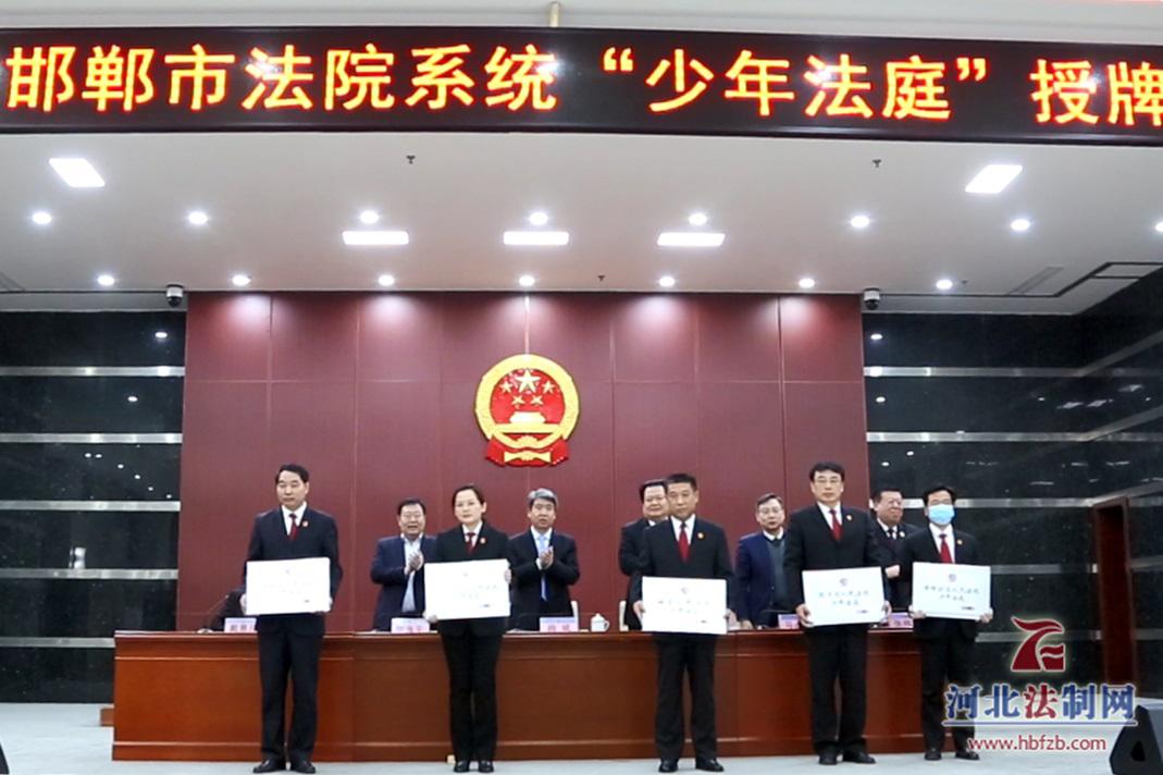 """邯郸两级法院统一设立""""少年法庭"""""""