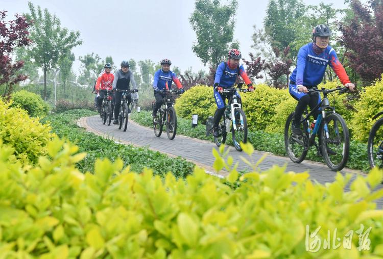 """河北邯郸永年区:低碳骑行迎接""""世界地球日"""""""